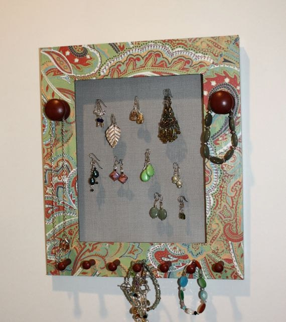 Paisley Jewelry Frame Holder to Organizer Earrings.