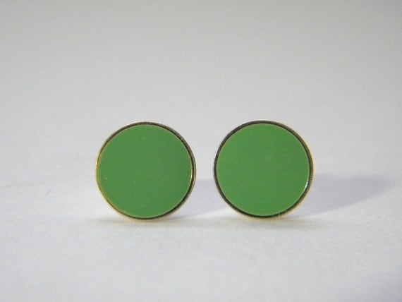 Choose Your Own Color Dot Post Earrings