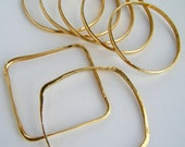 Hand forged brass bangles