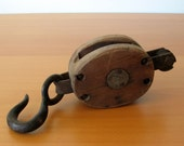 Vintage Madesco Wood Pulley