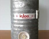 Vintage Igloo Galvanized Water Cooler