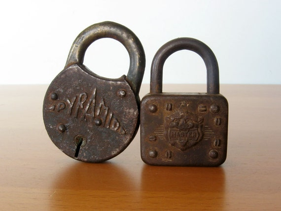 Vintage Padlocks - Industrial, Rustic Decor