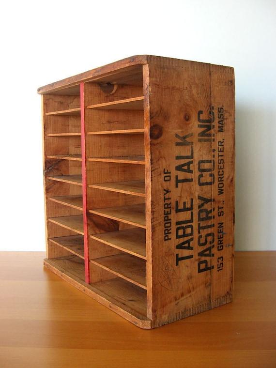 Vintage Tabletalk Pie Transport Crate By Vintageseventyfive