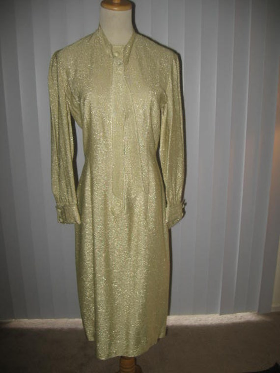 Vintage Gold Party Dress/Robbie Reid