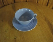 Blue Moderntone Cup and Saucer