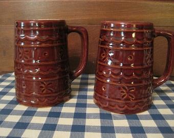 Vintage USA Pottery Steins