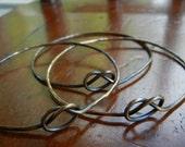 Brass Love Knot Bracelet - Set of 3