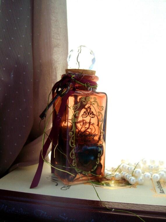 Moss Terrarium in Replica Antique Perfume Bottle - Victorian, Romantic, Cottage Chic - The Victorian Rose Terrarium