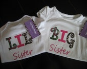 READY TO SHIP 0-3 Months Lil Sister onesie