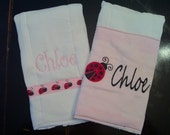 Set of Personalized Burp Cloths