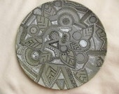 Hand painted zendala style decorative plate