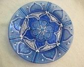 Hand painted mandala style decorative plate