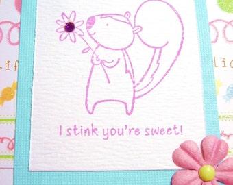 Handmade Card Set-Cute Skunk