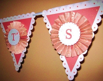 It's A Girl Baby Shower Paper Banner