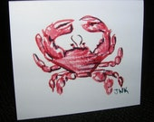 Red Crab Gift Tags, Set of 10