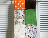 Feelin' Patchy -- Nature Baby -- Hand Tied Patchwork Blanket