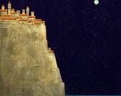 Corniglia Italy--16x16--archival giclee print
