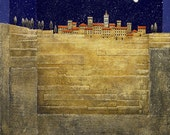 Lucca art print/Tuscany landscape print/Italy/ European landscape/giclee/fine art