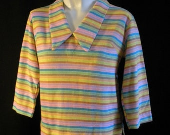 Never Worn Striped Sixties Blouse
