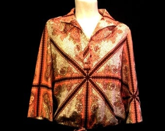 Brightly Patterned Leo Paley Blouson