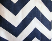 7 yards navy blue and white chevron fabric