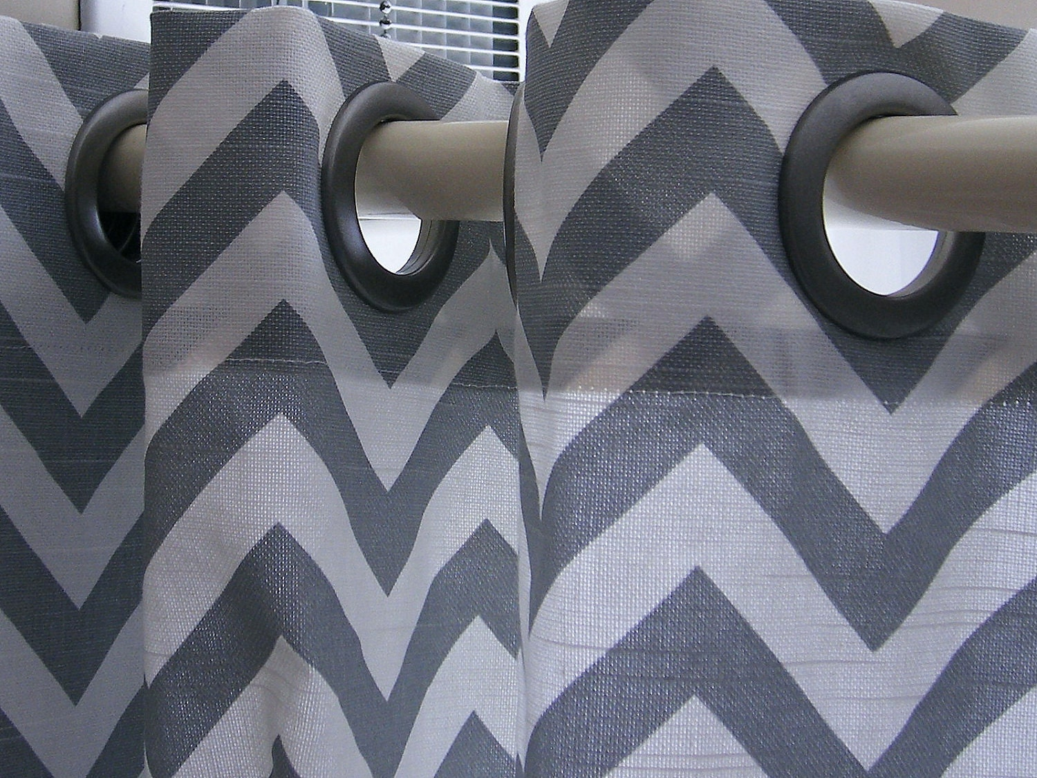 Clearance Shower Curtain Zig Zag Standard by elisabethmichael