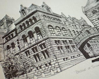 Bridge of Sighs - Limited Edition Pittsburgh Letterpress Print