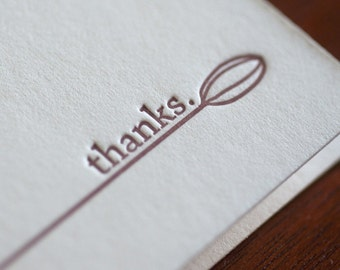 Thanks - Cardamom Signature Letterpress Notecard
