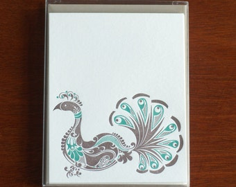 Natalie's Birds - Box of 5 Letterpress Flat Cards