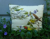 Sale. 10x9 Puffed Bird Accent Pillow