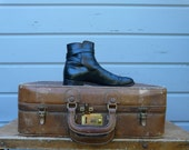 Men's Bowen Black Leather Ankle Boot Sz.9