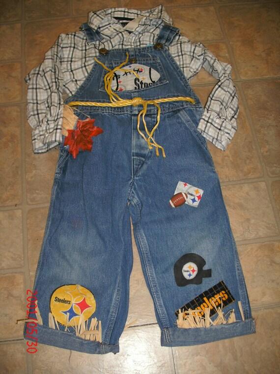 Boys Size 3t Handmade Halloween Nfl Steelers Scarecrow