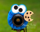 Lens Bling - Cookie Monster with Squeaker- Ready to Ship