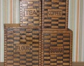Wooden 4 Piece Canister Set