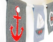 Nautical felt party banner or room decoration
