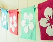 Hawaiian luau themed felt party banner or room decoration