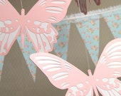 Large Butterflies - Hanging Decoration from the Shabby Chic Collection