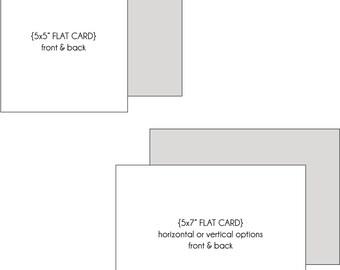 Custom FLAT Card - DEPOSIT