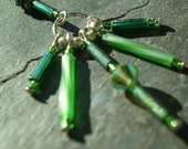 Sterling silver and Swarovski crystal palm frond earrings