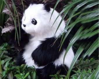 Lovely Panda Fur Animal Handmade Gifts