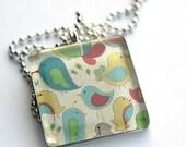 Birds Medium Square Necklace