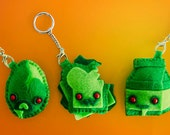 3-inch Undead Food KEYCHAINS (Set of 3)
