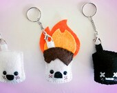 """Life & Death of a Marshmallow 2"""" KEYCHAINS"""