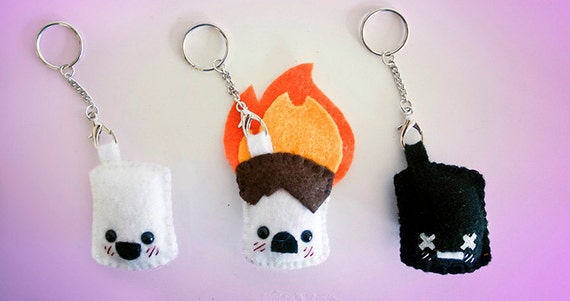 "Life & Death of a Marshmallow 2"" KEYCHAINS"