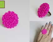 Summer Blossom Ring (Hot Pink)