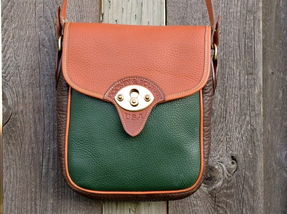 RARE Tri-Color Dooney & Bourke Vintage Leather Satchel Purse