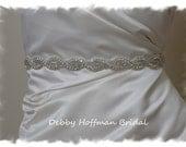 Bridal Belt, 18 Inch Wedding Dress Sash, Rhinestone Crystal Bridal Sash, Jeweled Wedding Belt, Thin Crystal Belt, No. 1126S-18, Best Seller