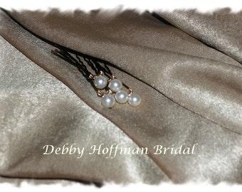 Ivory Pearl Wedding Hair Pins, White Pearl Bridal Hair Pins, Bridal Pearl Bobby Pins, Set of 6 Pearl Wedding Bobby Pins, Bridal Hair Pearls