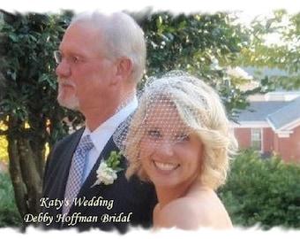 Blusher Birdcage Veil, Birdcage Wedding Veil, Birdcage Veil, Blusher Veil,  Bridal Veil, Bridal Wedding Veil, Blusher Wedding Veil, No. 401