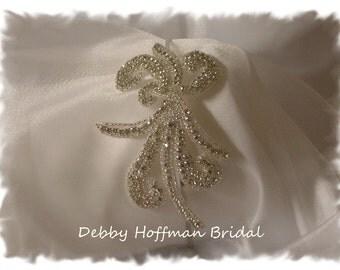 Rhinestone Crystal Bridal Headband, Beaded Rhinestone Ribbon Headband, Jeweled Wedding Head Piece, No. 2051HB, Wedding Hair Accessories